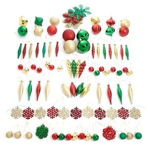 Winter Lane 101-piece Assorted Decorative Shatter-Resistant Ornament Set at HSN.com.