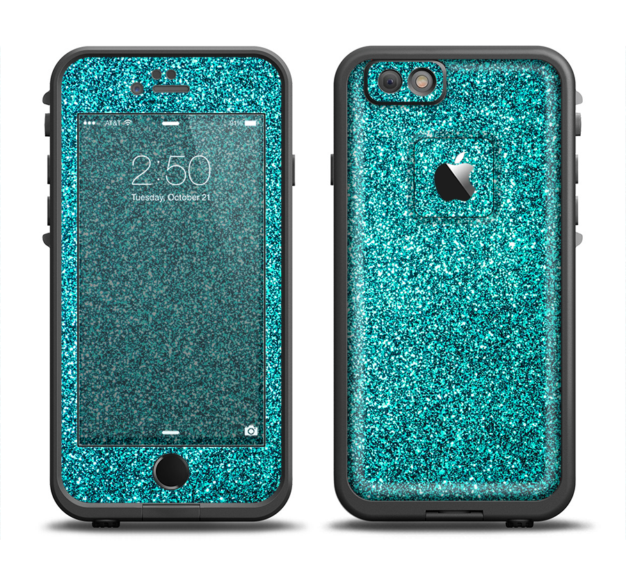lowest price eaf7a f9450 The Teal Glitter Ultra Metallic Apple iPhone 6 LifeProof Fre Case ...