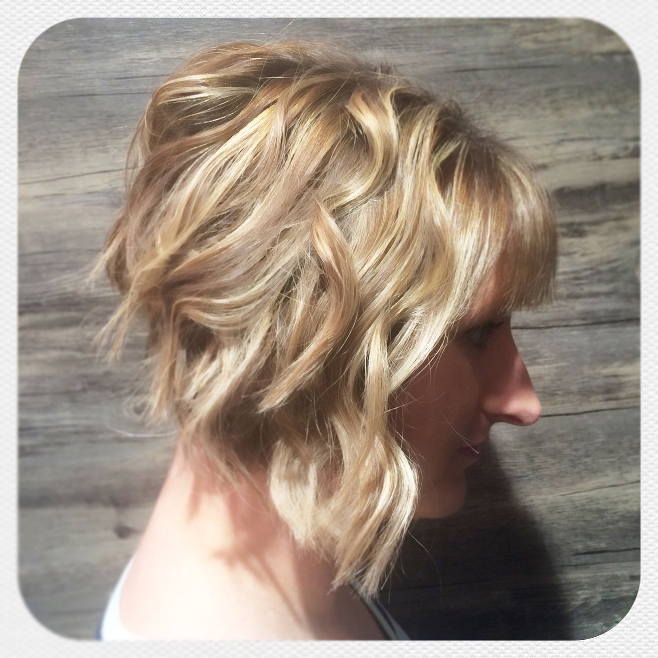 Summer Blonde And An Angled Textured Bob By Stylist Kylee