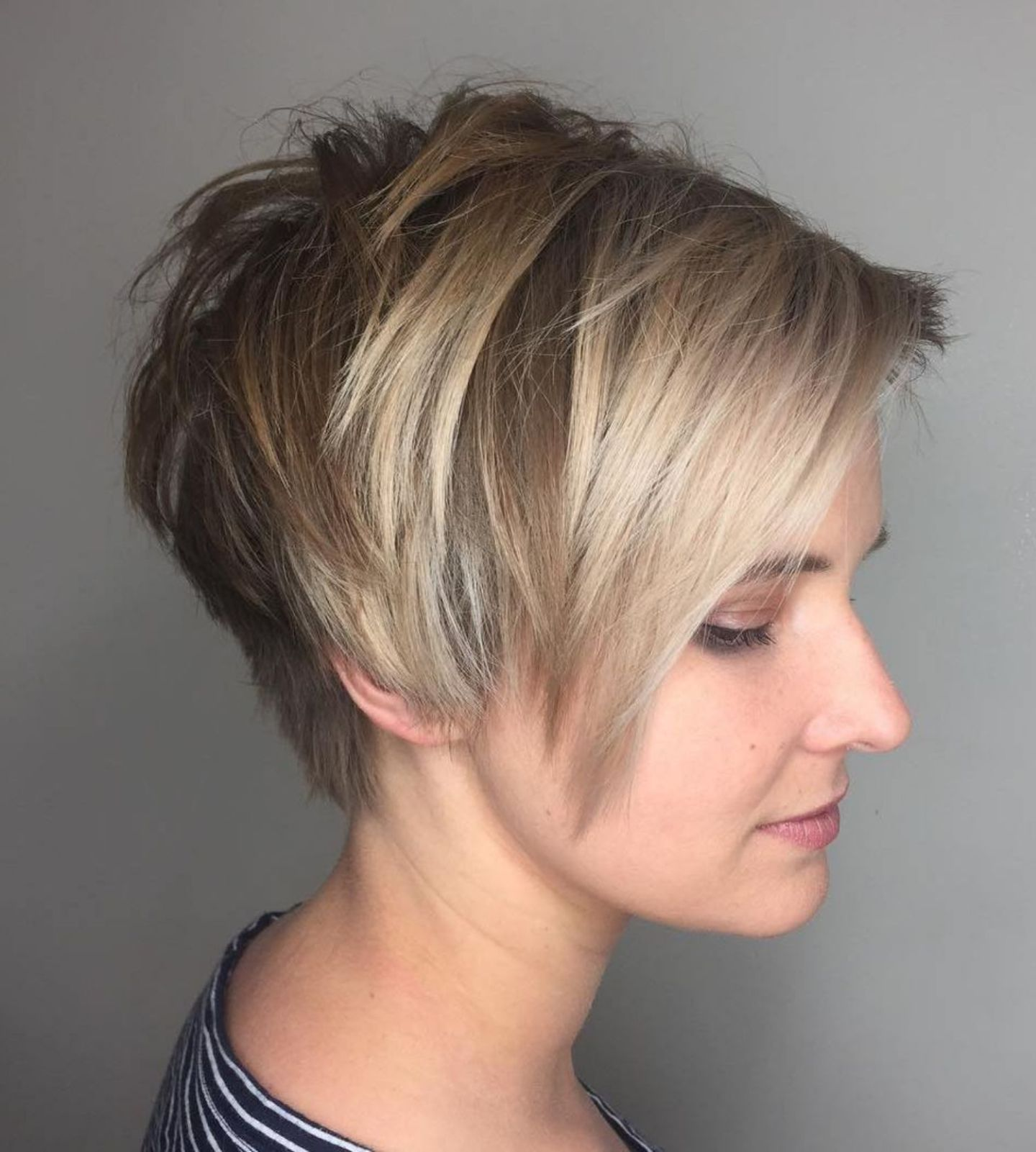 Short Tapered Neckline With Coverage And Texture Short Hair Back Short Hair Styles Pixie