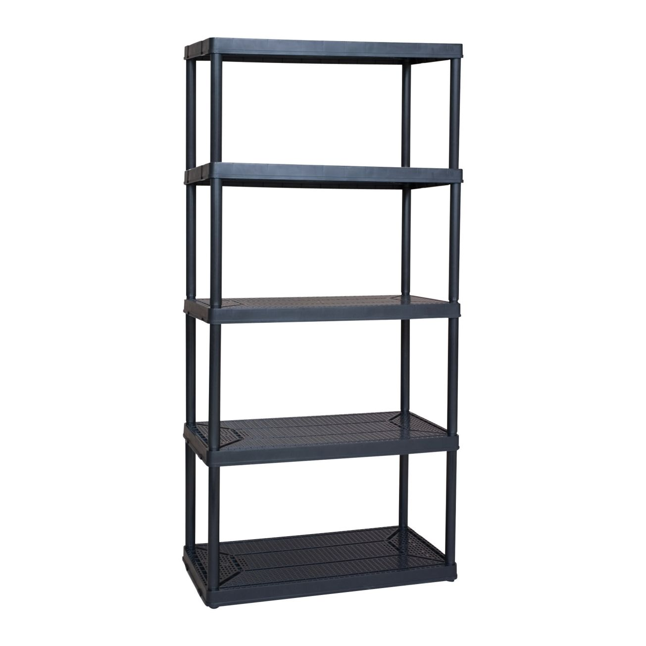 MaxIt 5 Tier Ventilated Plastic Shelving 18in D X 36in W 72in H 91005 UnitsStorage ShelvingGarage
