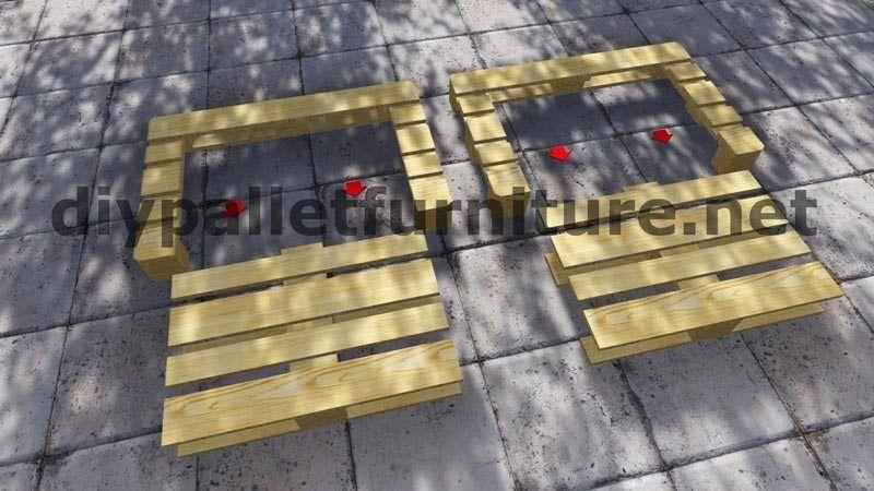 Canape En Palette Avec Dossier Incline Coussin Pour Palette Canape Palette Palette