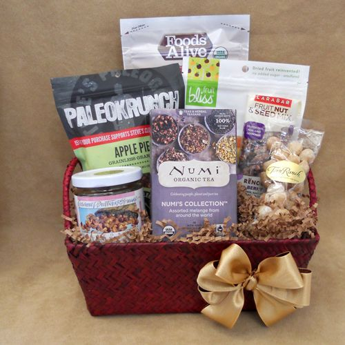 Start the morning right with our Paleo Breakfast Gift Basket. Your choice of coffee or tea. #paleo #gift