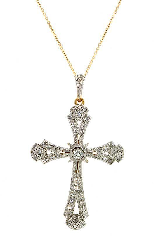 diamond cross necklace $ 1800