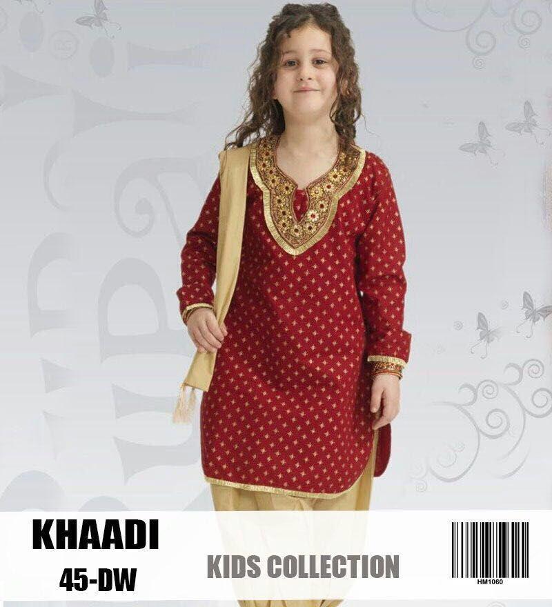 Khaadi Kids Khaadi Kids Embroidered Linen Dress Khaadi Kids Linen Replica Master Quality Replica Kids Fashion Dress Kids Fashion Clothes Online Kids Clothes