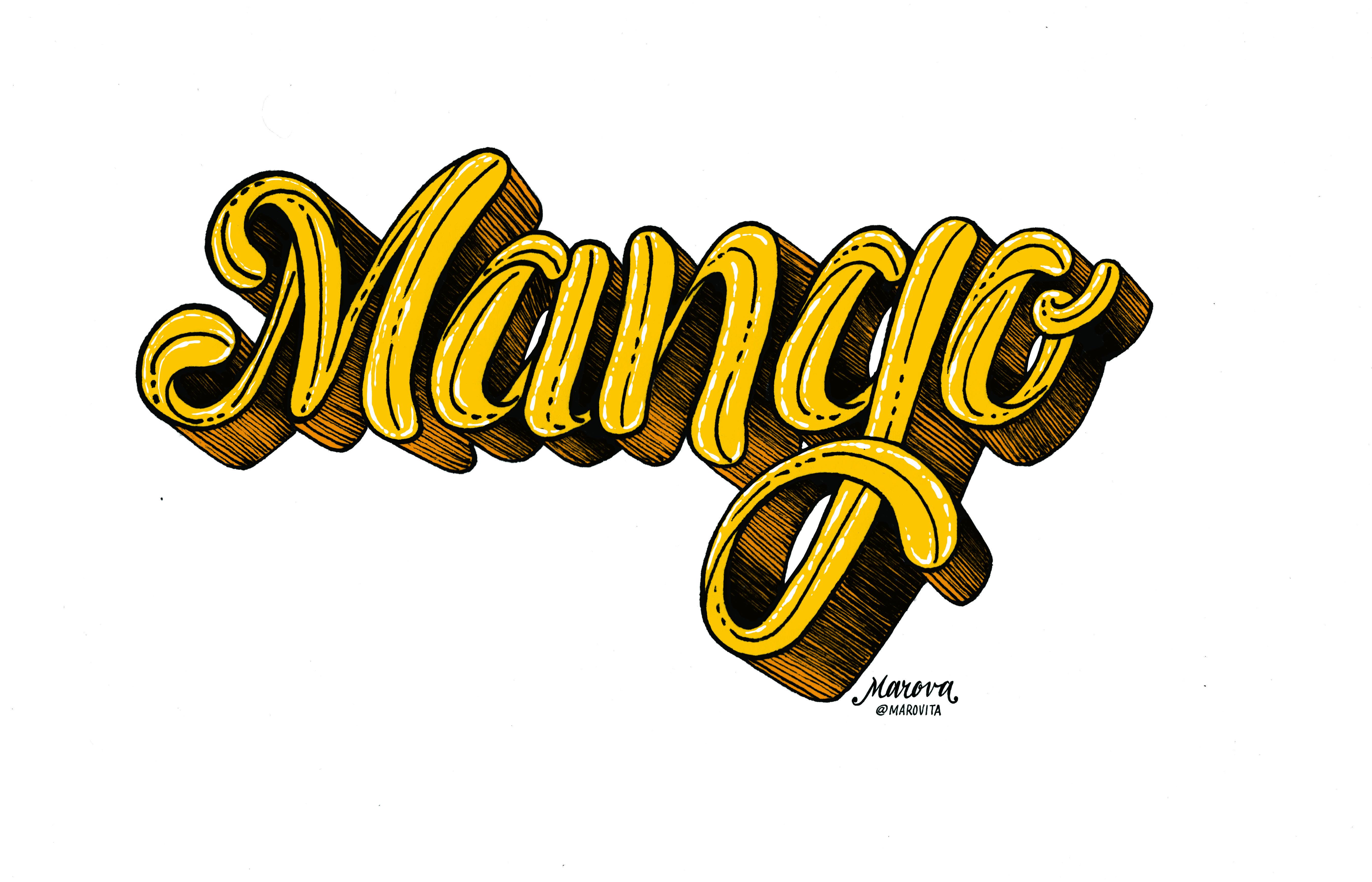 Lettering Mango Marovillas Sport Team Logos Team Logo Lettering