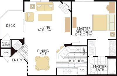 Rancho Monterey Apartments In Tustin Ca Irvine Company Tustin Bedroom Studio Apartment