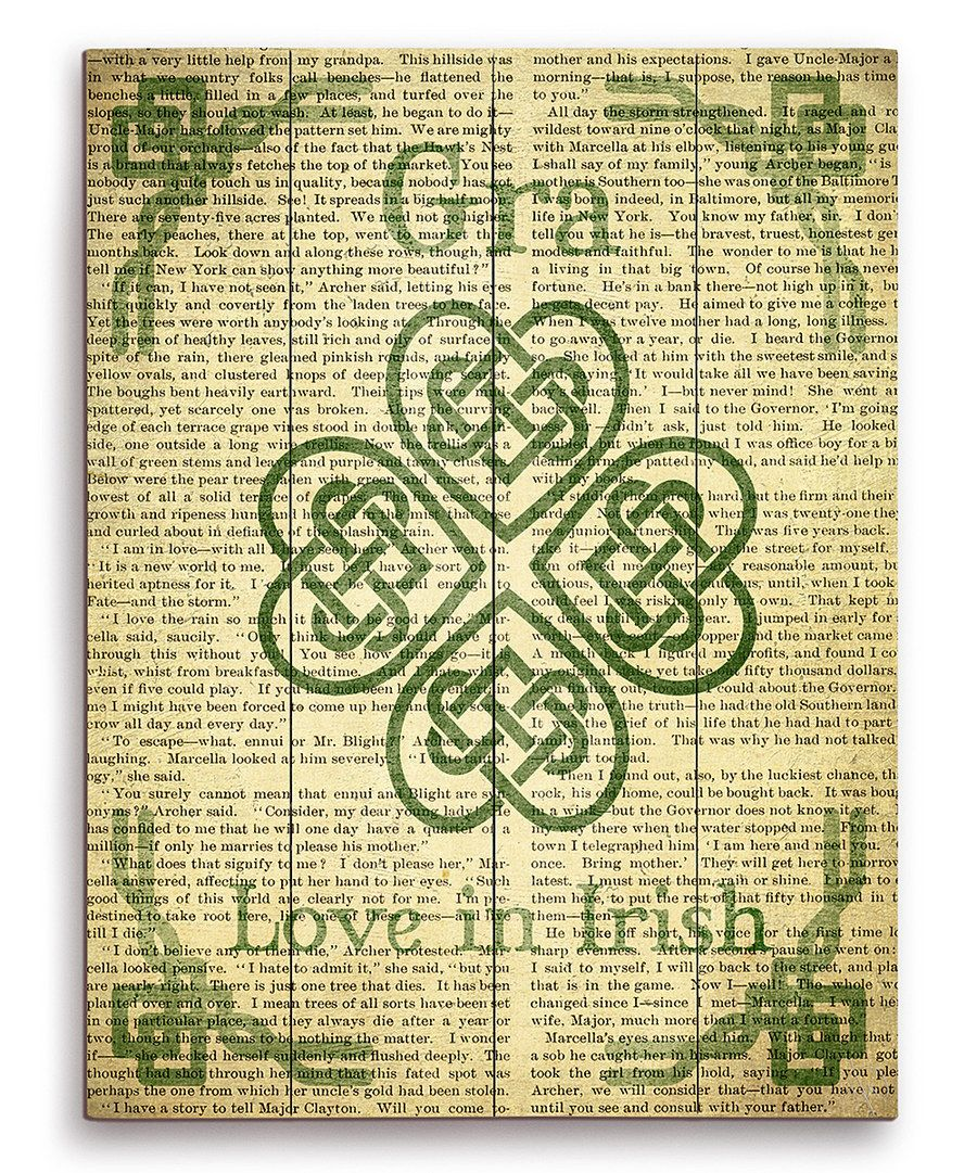 Look at this \'Love in Irish\' Celtic Knot Clover Wall Art on #zulily ...