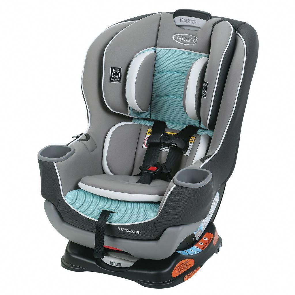 Graco Extend Fit Spire Black Blue Grey Convertible Car