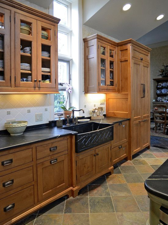 Feet On The Cabinets To Look Like Furniture Kitchen Hand Made Moroccan Tile Floor Design Picture Kitchen Cabinet Styles Rustic Kitchen Kitchen Cabinets Decor