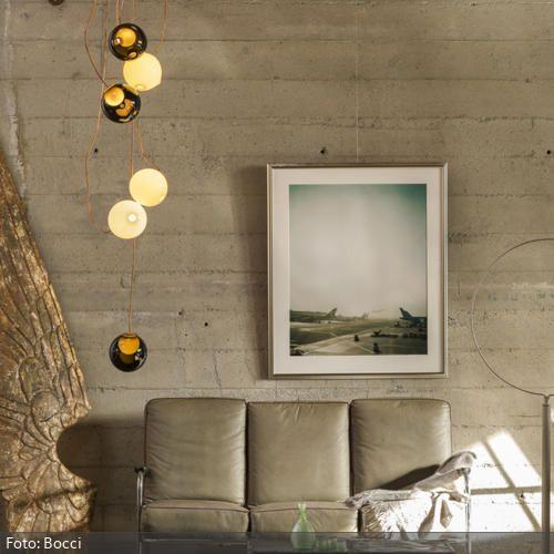 Pendelleuchten-Ensemble im Wohnzimmer Lights