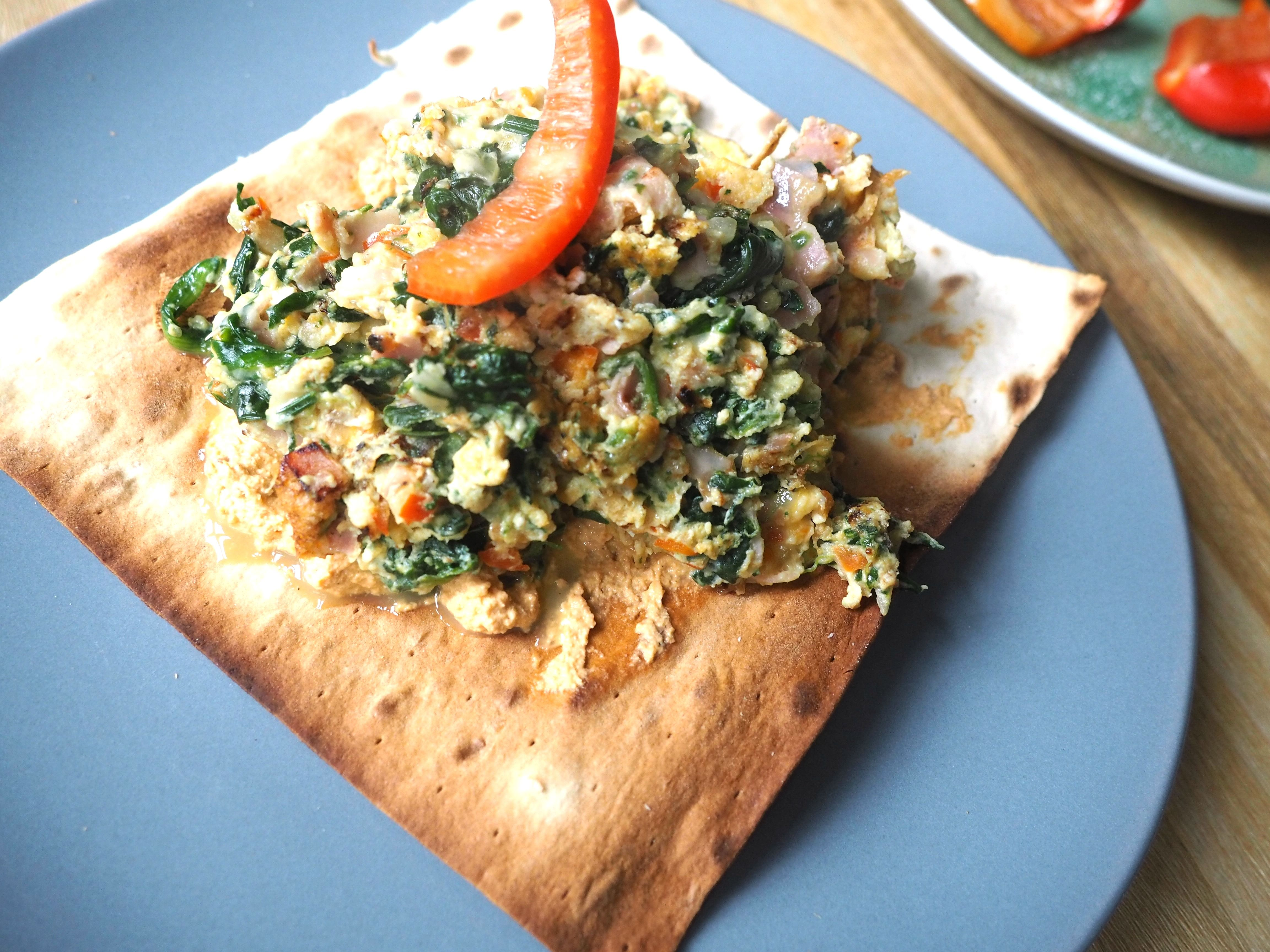 Knusprige Frühstücks Lavash |