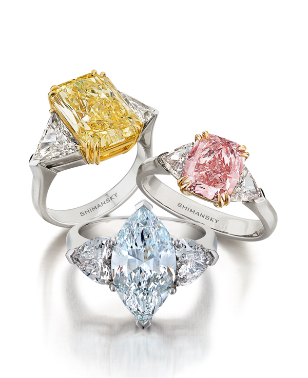 hana ring coloured engagement collections grande diamond fancy or rings
