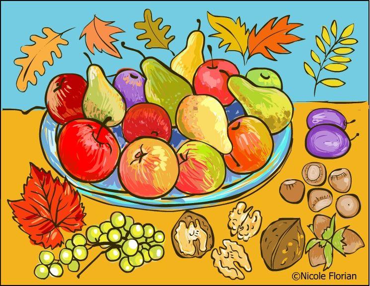 Nicoles Free Coloring Pages Autumn Fruits Page Desene De Colorat Cu Toamna