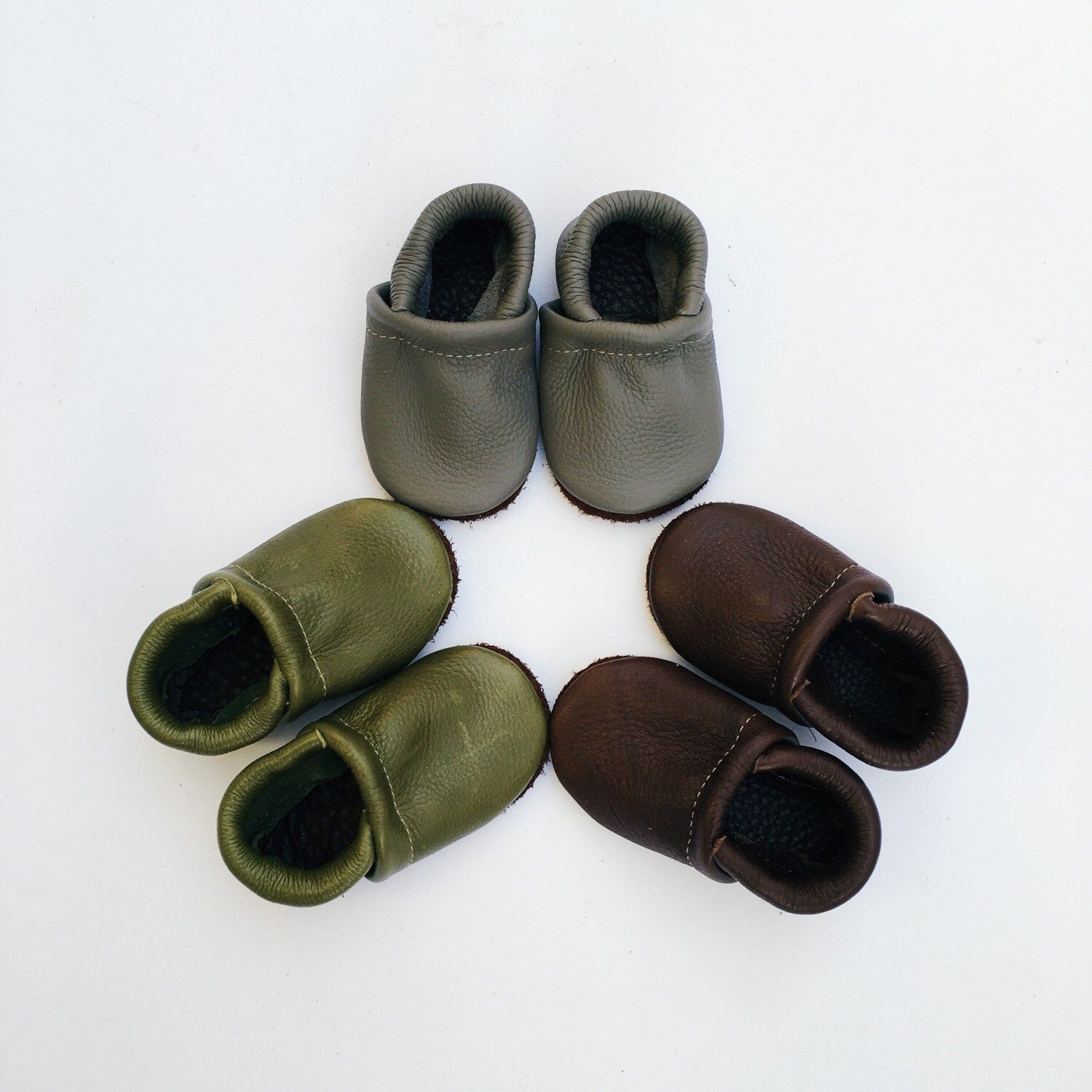 BASIC//LOAFERS ( pick color)Olive, Gray, Chocolate Brown Soft Soled Leather Shoes Baby and Toddler by starryknightdesign on Etsy https://www.etsy.com/listing/219449200/basicloafers-pick-colorolive-gray