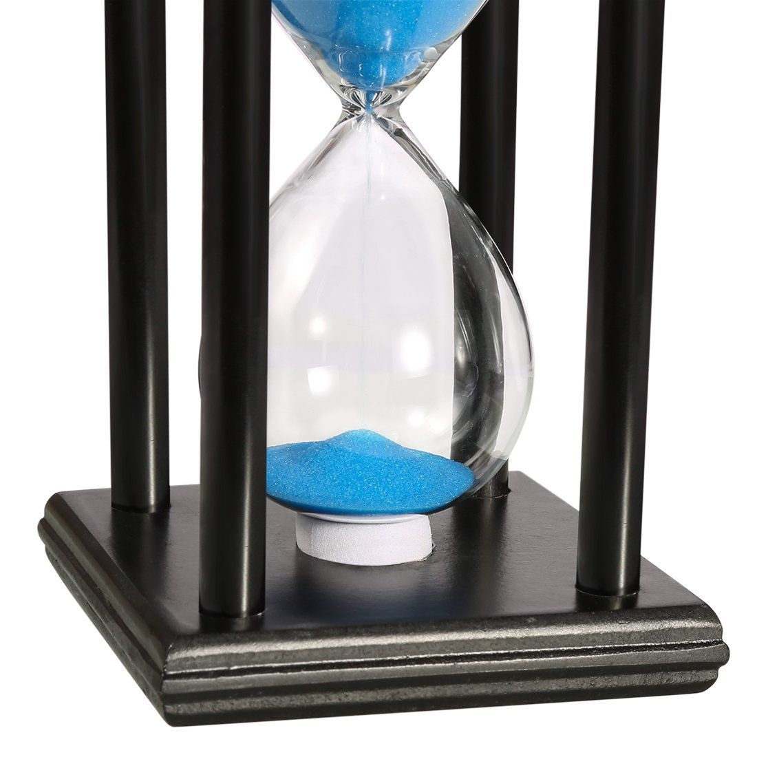 bojin 10 minute hourglass wooden black stand hourglass sand timer
