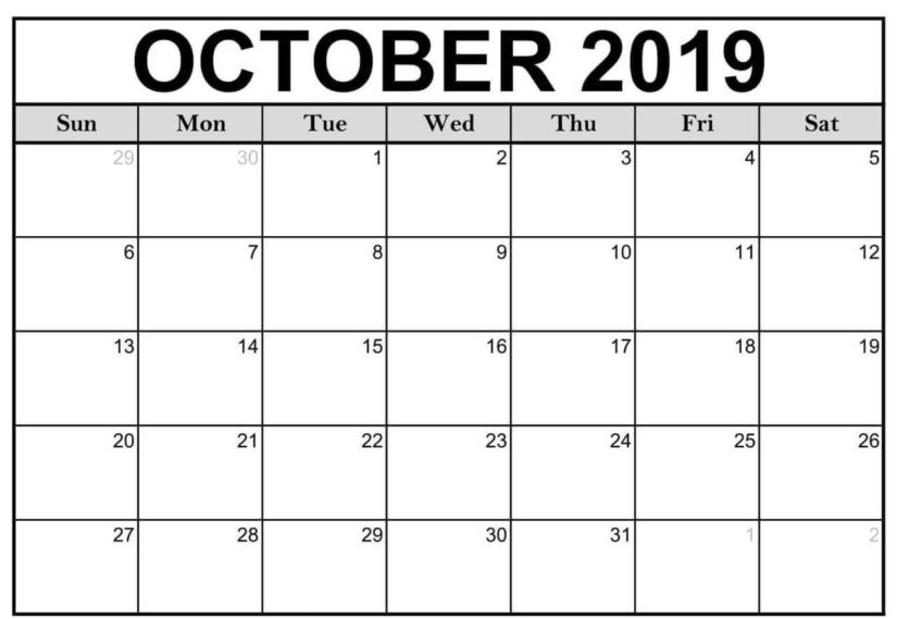 50 Free Printable October 2020 Calendars With Holidays In 2020