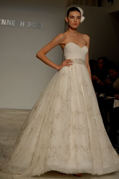 Kenneth Pool Flirtation Gown Princess Wedding Dresses