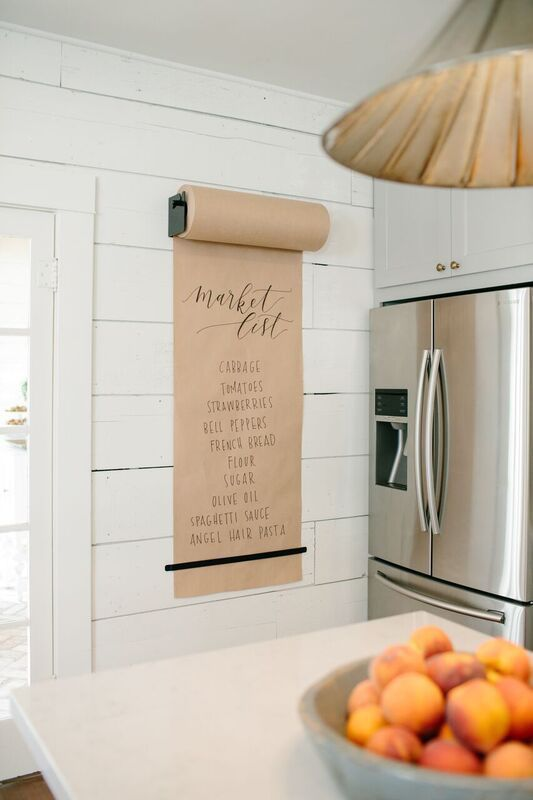 butcher paper shopping list fixer upper unexpected idea kitchen