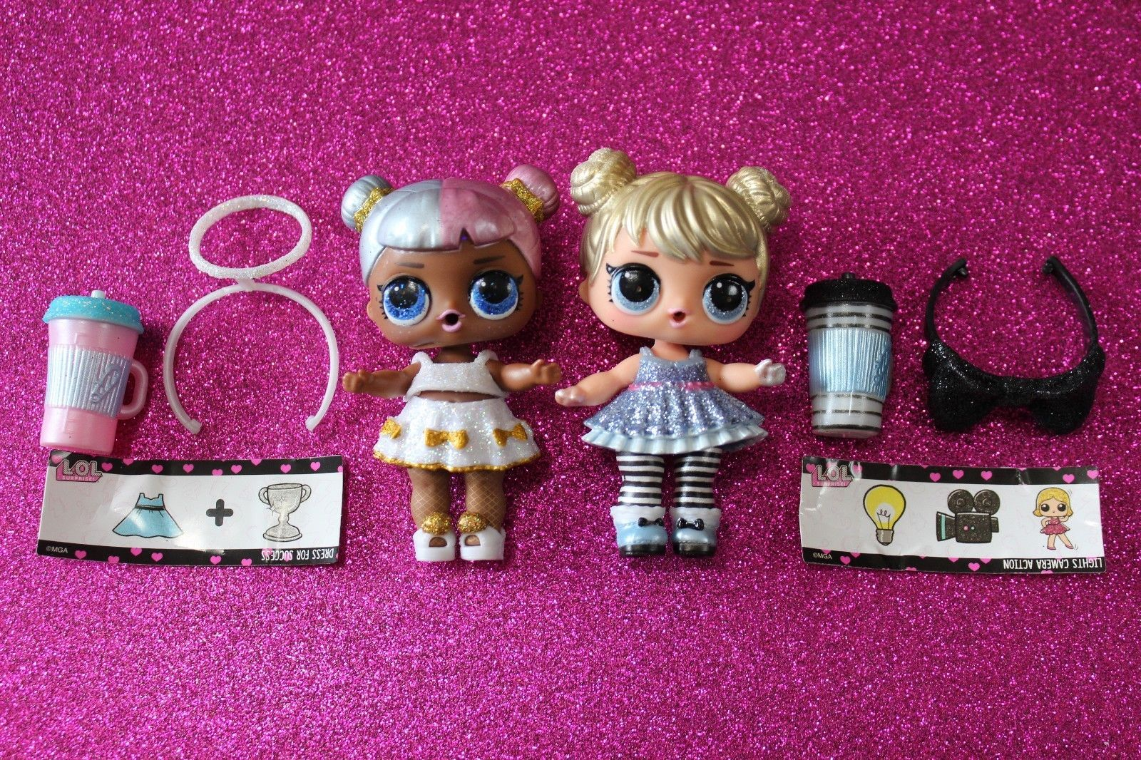 Lol surprise glam glitter lot of 2 sugar and curious qt newly opened