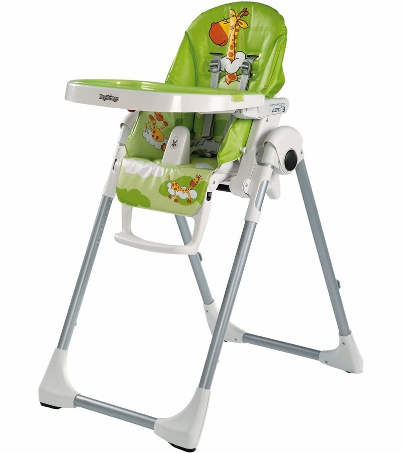 Peg Perego Prima Pappa Zero 3 Giraffa Verde High Chair Baby