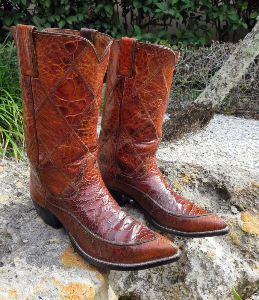 Black Jack Mens Python 10 D Exotic Cowboy Boots 604 Snakeskin USA ...