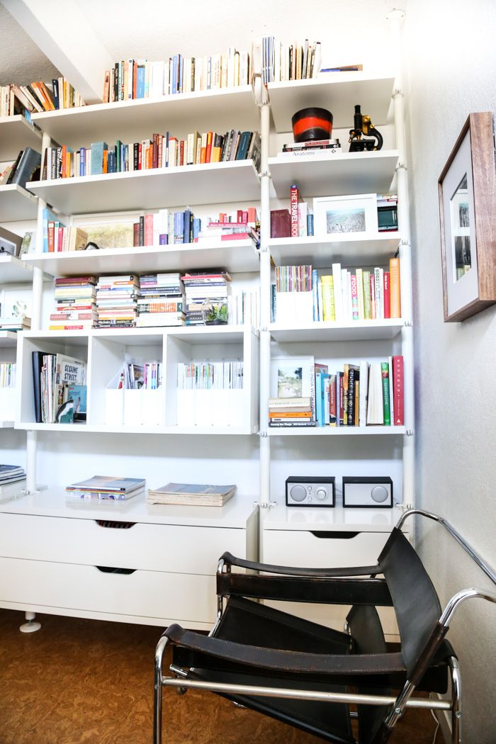 Genial Ikea Hack: Office Bookshelves Using Stolmen Shelves From IKEA   Hither And  Thither