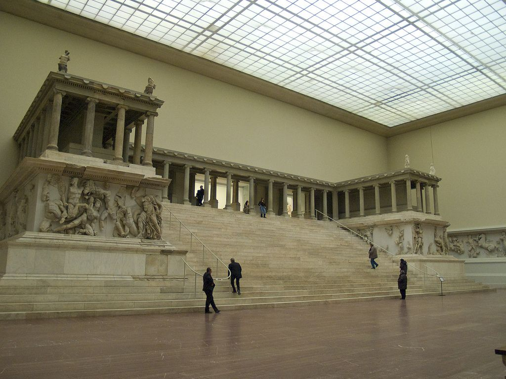 Altar De Zeus Pergamon Museum Ancient Greek City Pergamon Museum Berlin
