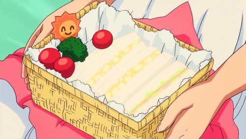 Yayoi makes lunch for Candy and herself, Smile Precure!, Episode 25.