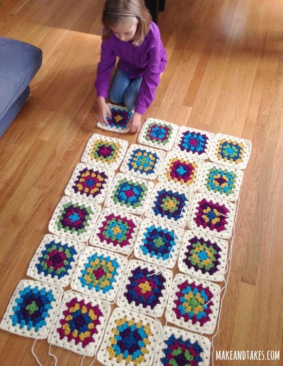 granny square - Google Search | Crochet | Pinterest | Manta, Mantas ...