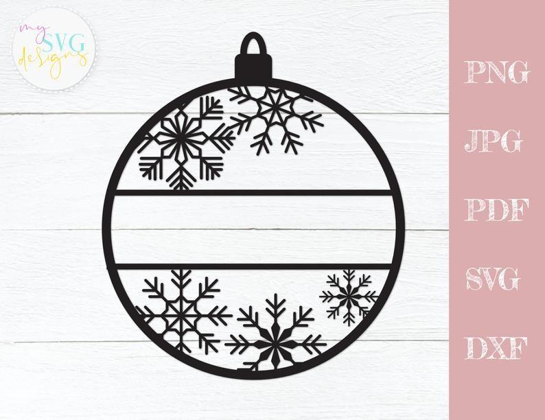 Christmas Ornament Svg Name Ornament Svg Christmas Svg Etsy In 2020 Christmas Svg Christmas Ornaments Svg