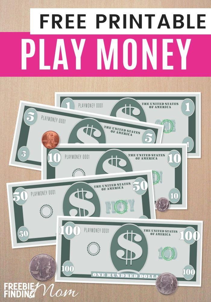 Printable play money for children comet procter gamble