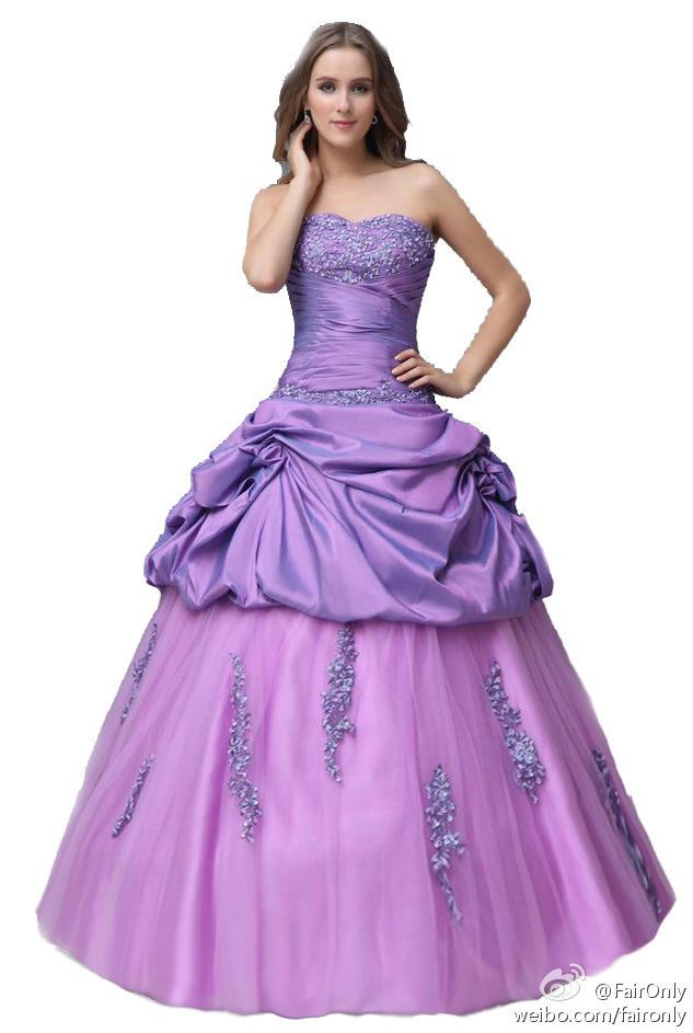 FairOnly Women\'s Strapless Violet Prom Gown Formal Dresses Size 6 8 ...