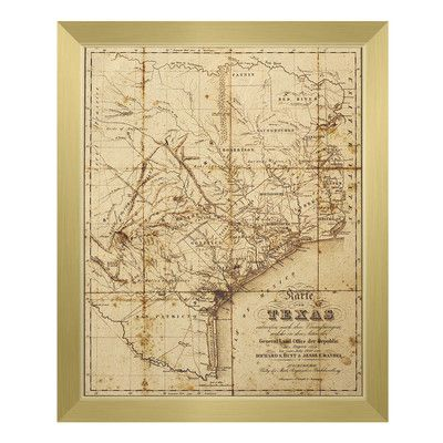 Click Wall Art Sepia Texas Map Framed Graphic Art Wayfair Graphic Art Print Wall Art Graphic Art