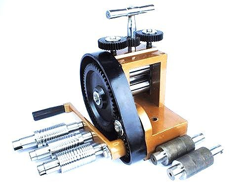 "J2116 Proops Deluxe Jewellers Mini Rolling Mill with 7 Rolls 3/"" x 15//8/"""