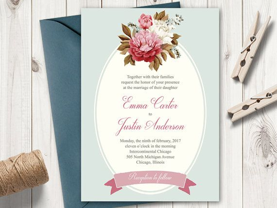 DIY Wedding Invite  - ms word invitation templates