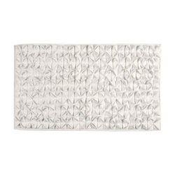 Tapis de Bain Design Coton Origami Ivoire - 60*100cm WADIGA - Tapis de bain