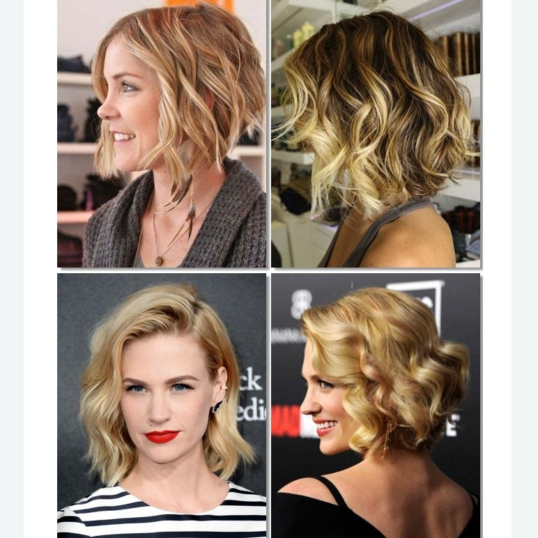 Corte Bob Con Ondas Tendencia Crochet Pinterest Curly Hair