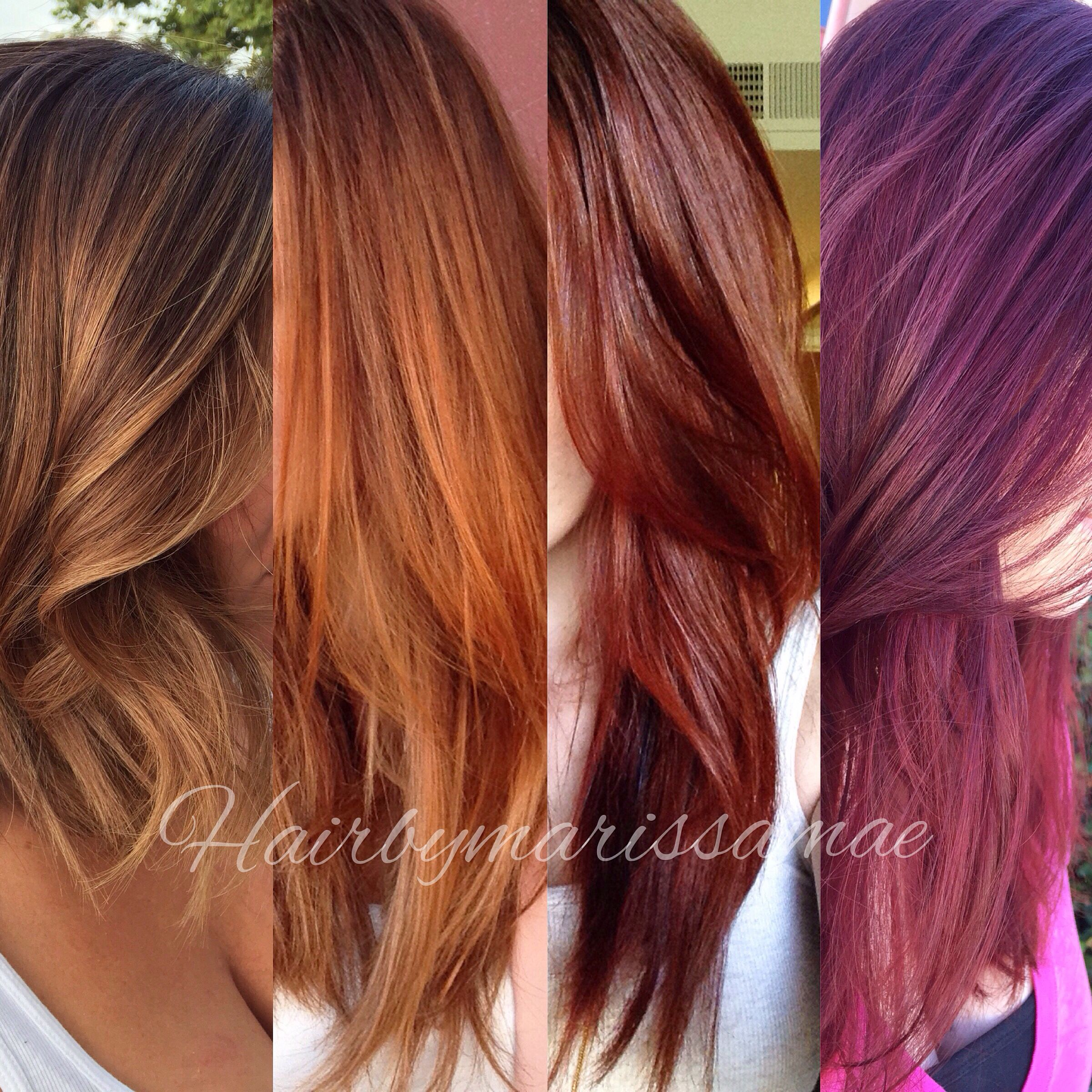 Fall Hair Color Chart Gold Copper Auburn RedViolet WhatS