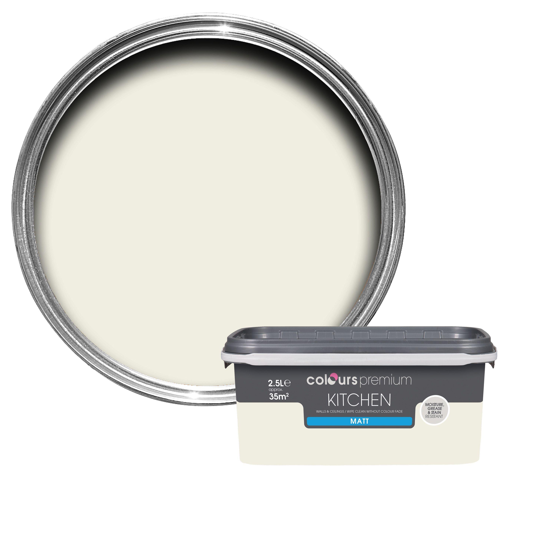 Colours Kitchen Antique White Matt Emulsion Paint 2.5L