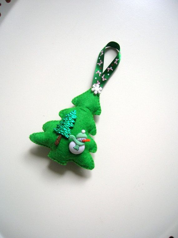 Felt Christmas Tree Decoration Christmas Ornament Felt by Lilamina