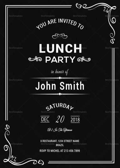 Chalkboard Rehearsal Lunch Invitation Template Dinner Invitation Template Lunch Invitation Rehearsal Dinner Invitation Template