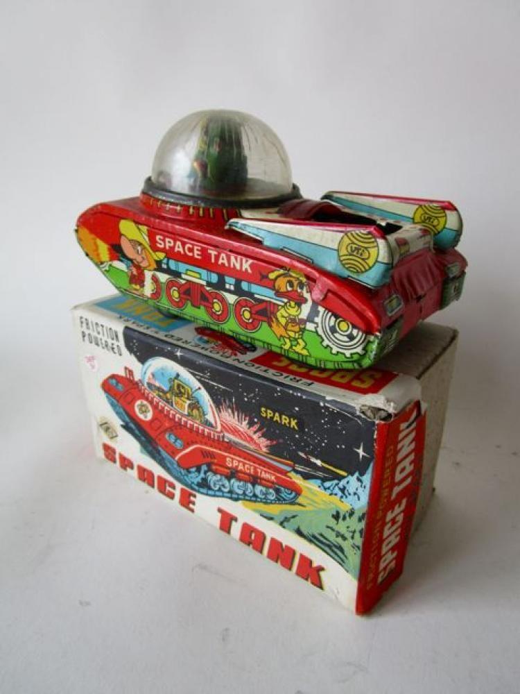 Friction 'Space Tank' VTI VOHRA TOYS - INDIA in box #MiddelburgsVeilinghuis
