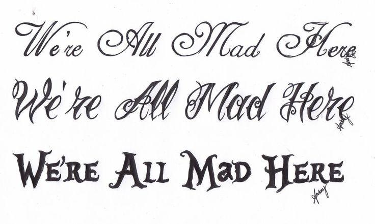 alice in wonderland font