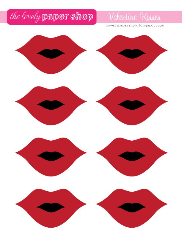 Lovely Paper Blog Valentine Lips Free Printable For Pin The