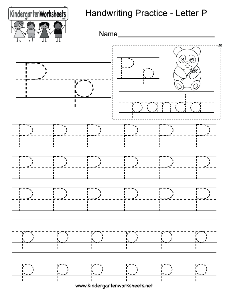 Letter P writing worksheet for kindergarteners. This series of ...