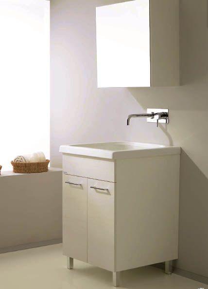 vasca lavatoio 60x50 cm con mobile. la vasca può essere installata ... - Arredo Bagno Mobili Senza Lavabo