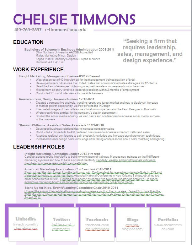Great resume example on Pinterest! Chelsie Timmons Real - great resume examples