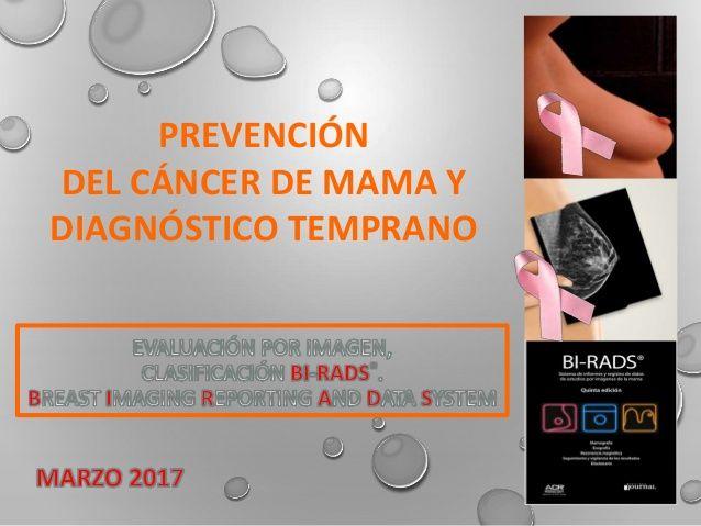 PREVENCIÓN  DEL CÁNCER DE MAMA Y  DIAGNÓSTICO TEMPRANO