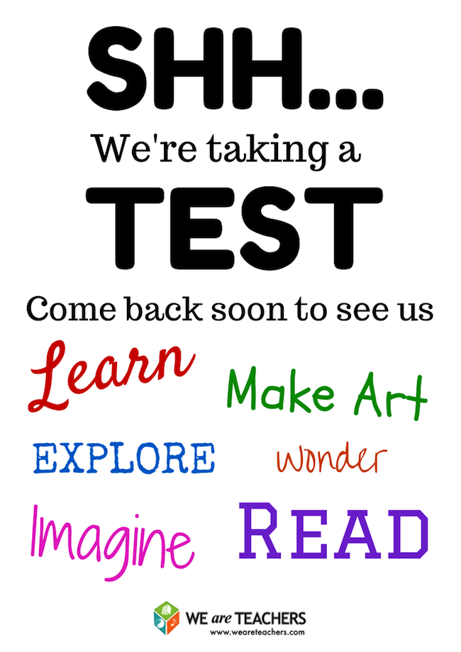 free printable door signs for testing week test prep pinterest